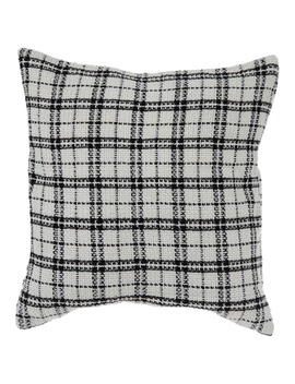 White & Black Plaid Knit Pillow Cover by Hobby Lobby