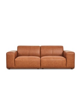 Todd Sofa Leather, Saddle Tan | Castlery by Castlery