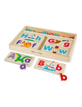 Melissa & Doug® Abc Picture Boards   Educational Toy With 13 Double Sided Wooden Boards And 52 Letters by Melissa & Doug
