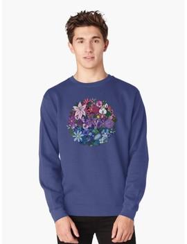 Bi Pride Flowers Pullover Sweatshirt by Elleniona