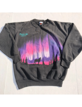 Vintage 90s Wolf Nature All Over Print Crewneck Sweatshirt by Vintage  ×
