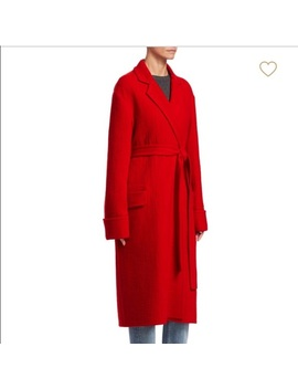 🆕Maje Red Belted Wrap Wool Coat   Nwt by Maje