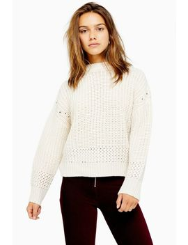 Petite Ivory Recycled Crew Neck Jumper by Topshop