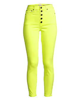 Good High Rise Neon Button Fly Skinny Ankle Jeans by Alice + Olivia Jeans