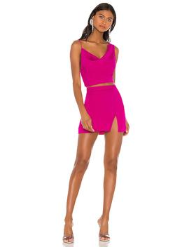Kylie Mini Skirt Set In Magenta by Superdown