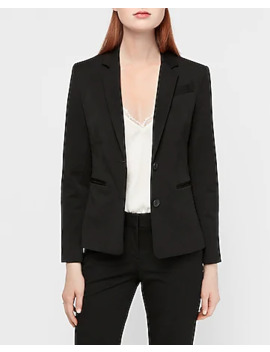 Two Button Front Notch Collar Blazer by Express