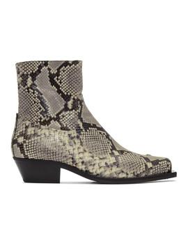 Grey & Black Iggy Cowboy Boots by Misbhv
