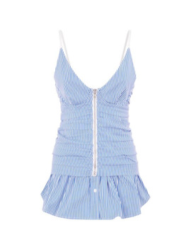 Ruched Peplum Camisole by Alexander Wang