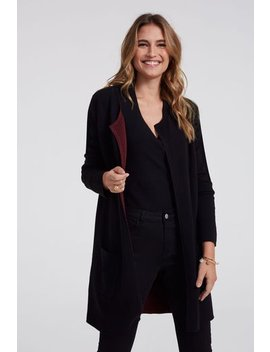 Contrast Detail Coatigan by Long Tall Sally