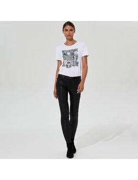 Karl Lagerfeld Paris Waxed Denim Skinny Jean Karl Lagerfeld Paris Waxed Denim Skinny Jean by Long Tall Sally