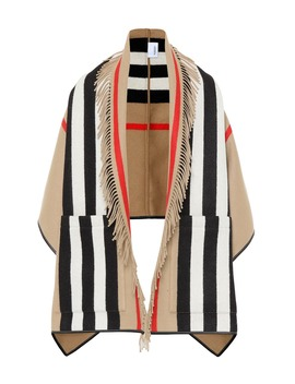 Icon Stripe Wool And Cashmere Cape by Burberry