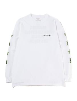 Maharishi Pax Cultura Long Sleeve T Shirt / White by Maharishi