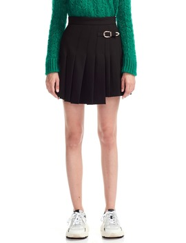 Jino Buckle Detail Skater Miniskirt by Maje