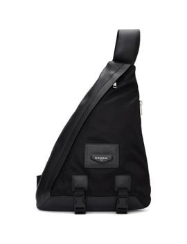 Black One Shoulder Envelope Backpack by Givenchy