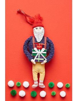 Brooklyn Santa Ornament by Anthropologie