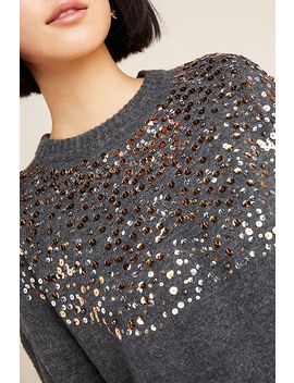 Vanessa Sequined Sweater by Lea & Viola