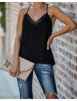 Hit The Town Lace Cami Tank by Vici