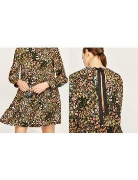 Zara Basic Blumen Overall RÜckenfrei Floral Open Back Jumpsuit M 38 by Ebay Seller