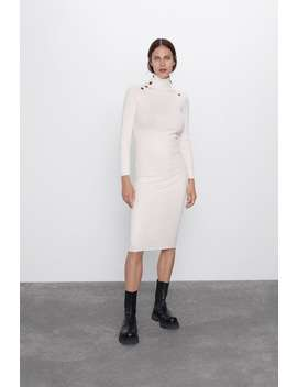 Button Up Shift Dress by Zara