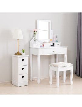 Myhre Vanity Set With Mirror by Charlton Home