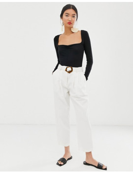 Whistles Sweatheart Gather Front Rib Top by Whistles