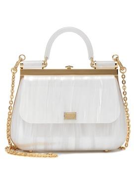 Sicily Box Plexi Shoulder Bag by Dolce & Gabbana