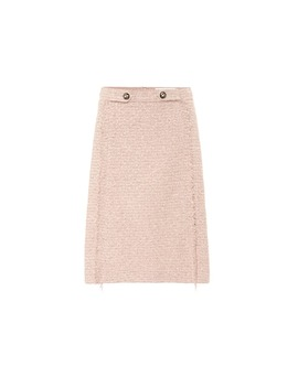 High Rise Tweed Skirt by Etro