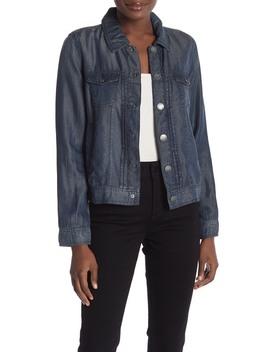 Tencel Pintuck Jacket by Tahari