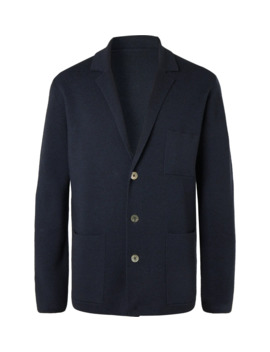 Unstructured Merino Wool Blazer by Mr P.