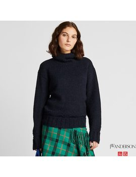 Women Jw Anderson Low Gauge Knit Turtleneck Jumper by Uniqlo