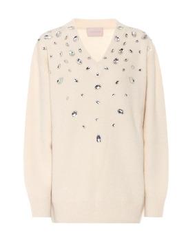 Embellished Cashmere Blend Sweater by Christopher Kane