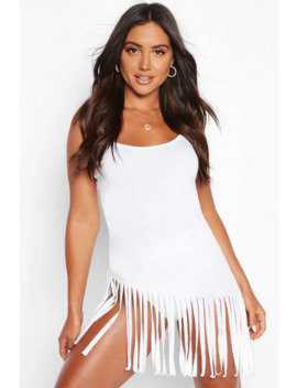 Tassel Cami Beach Dress by Boohoo