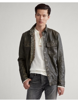 Leather Shirt Jacket by Ralph Lauren