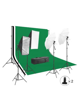 Square Perfect Photography Studio Led Lighting Background Kit by Square Perfect
