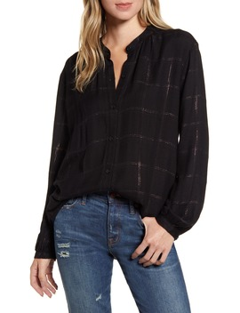 Eloise Windowpane Check Woven Top by Rails