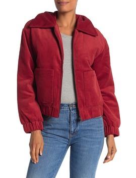 Corduroy Zip Front Jacket by Elodie