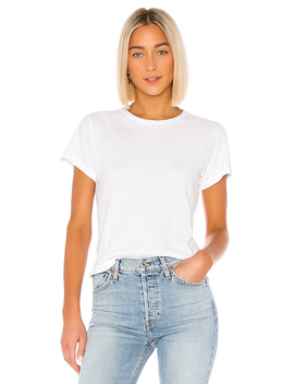 The Classic Tee In Vintage White by Re/Done