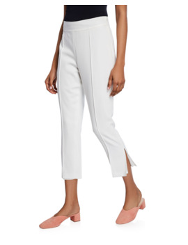 Atticus Piped Slit Hem Pants by Cinq A Sept