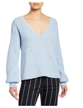 Ribbed V Neck Sweater by Derek Lam 10 Crosby