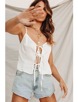 Peaches Tie Front Top // White by Vergegirl