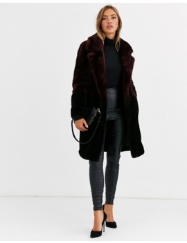 Urbancode Coat In Ombre Faux Fur by Urbancode