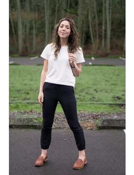 Women's Linen Joggers Black by Etsy