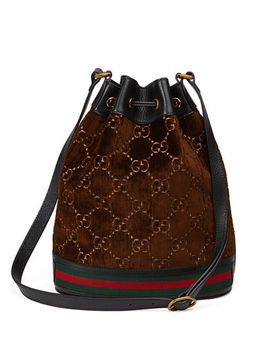 Gg Velvet Bucket Bag by Gucci