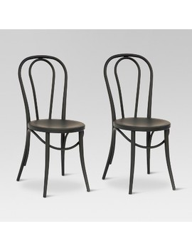 Emery Metal Bistro Chair (Set Of 2)   Threshold™ by Shop Collections