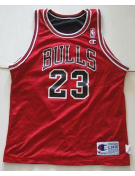 L Youth Champion Michael Jordan Chicago Bulls Nba Reversible Basketball Jersey by Champion