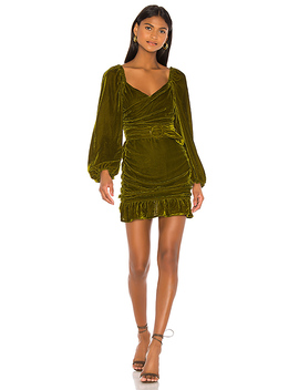 Rosa Dress In Moss Green by Tularosa