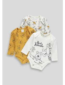 Unisex 3 Pack Disney Winnie The Pooh Bodysuits (Newborn 12mths) by Matalan