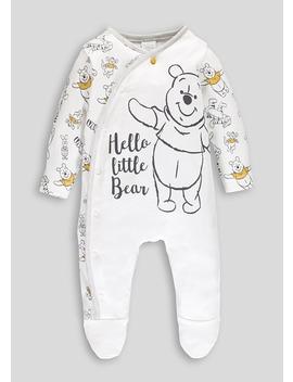 Unisex Disney Winnie The Pooh Baby Grow (Newborn 9mths) by Matalan