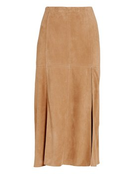 Esther Suede Paneled Skirt Esther Suede Paneled Skirt by Intermixintermix
