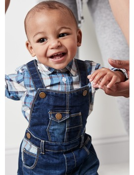 Unisex Dungarees And Shirt Set (Tiny Baby 18mths) by Matalan